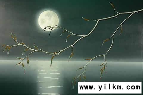 梦见月亮有晕光茫混沌