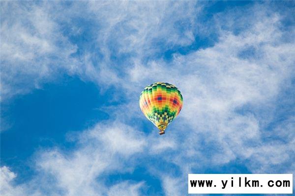 梦见坐热气球是什么意思